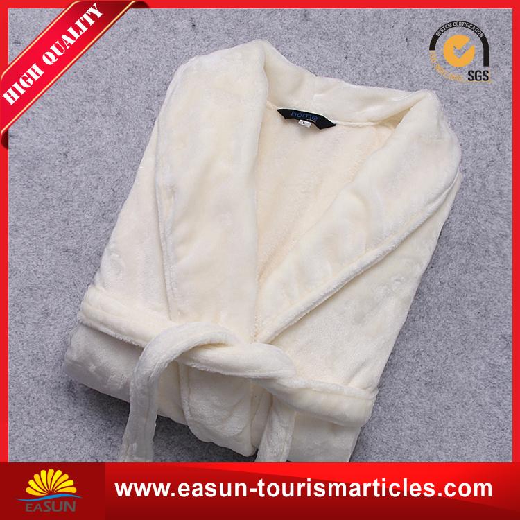 Luxury Customized Grey Cotton Fleece Hotel Bathrobe