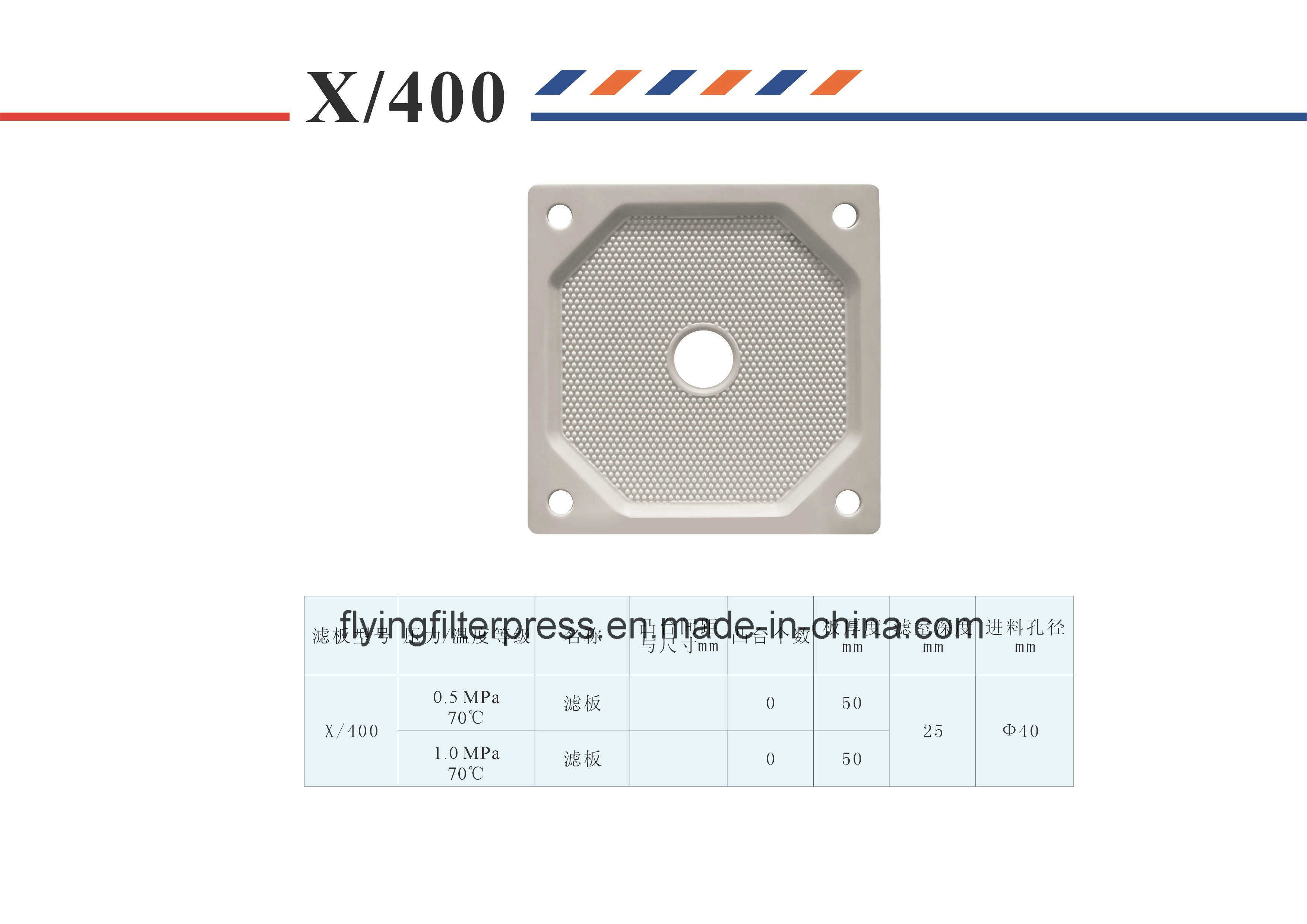 High Pressure and Temperature Chamber Plate X400