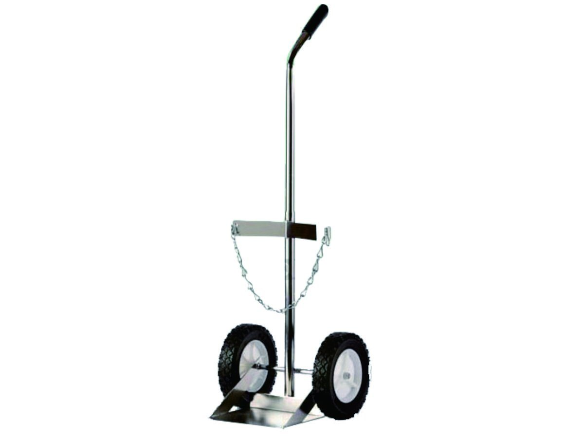 Aluminium Type Gas Oxygen Cylinder Cart Hand Trolley Two Wheel for Hospital (4M3211)
