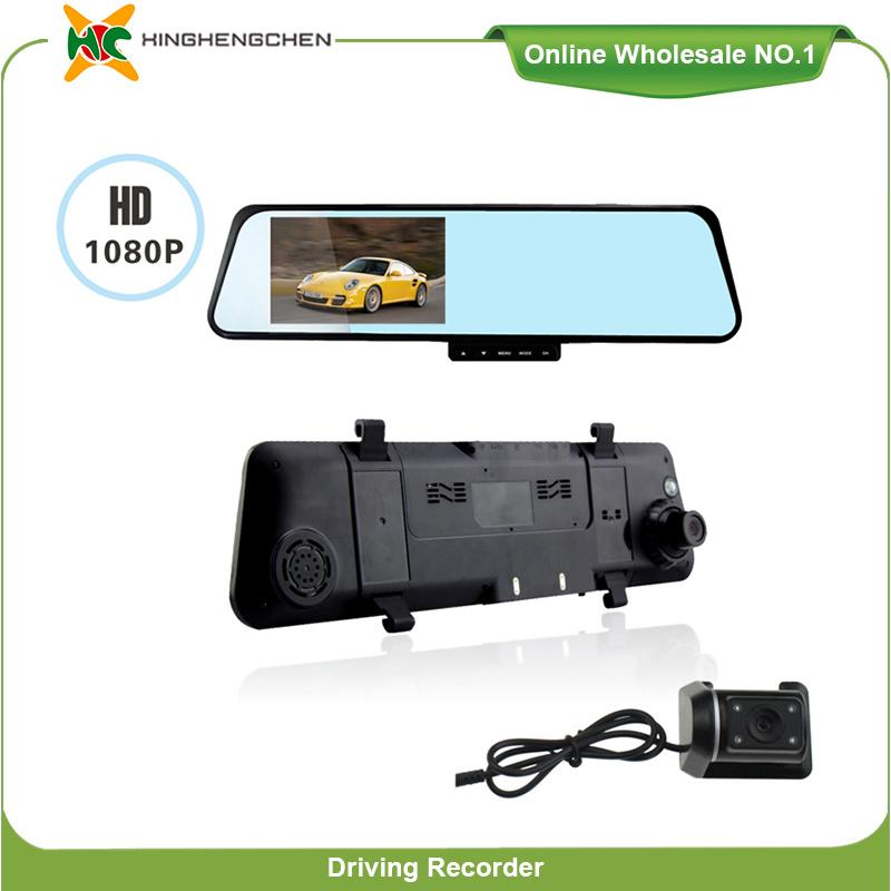 """4.3"""" TFT LCD Dash Cam Dual Camera Waterproof Car DVR"""