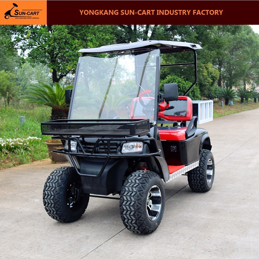 2 Seats Electric Transport Golf Cart with Cargo Box