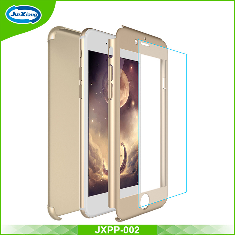 360 Full Protection Mobile Phone Case for iPhone 7 with Tempered Glass