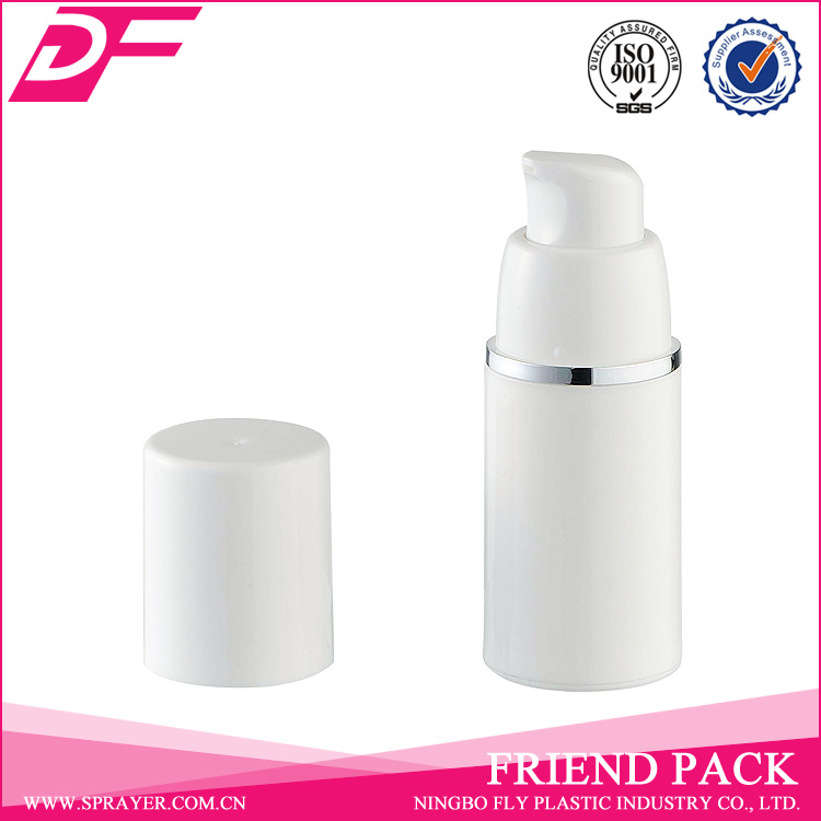 Hot Sale White Plastic Airless Bottle for Cosmetic Packaging