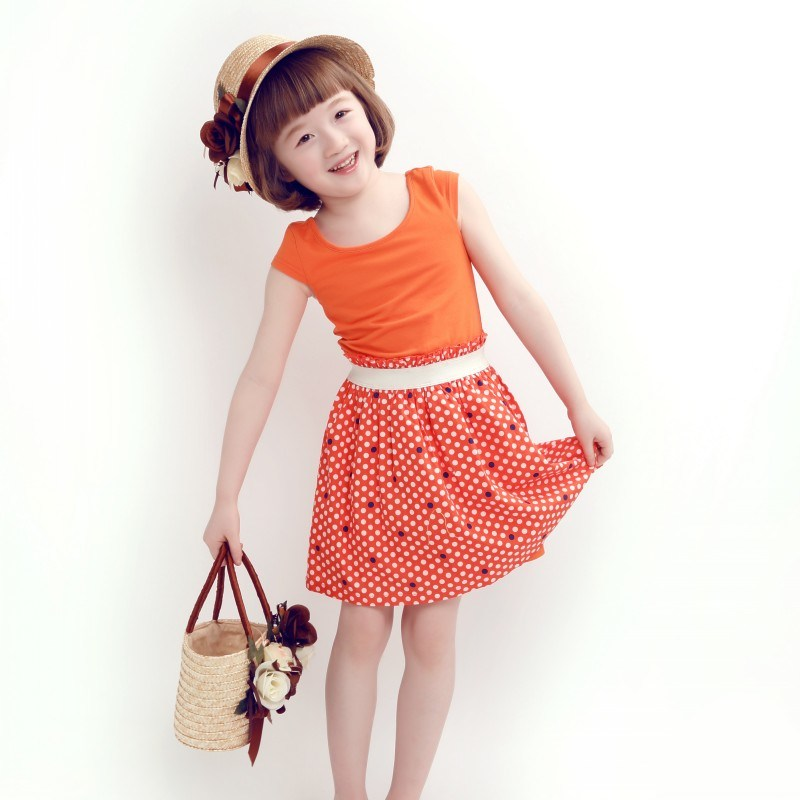 Wholesale Lovely Knitted Cotton Dress for Girls
