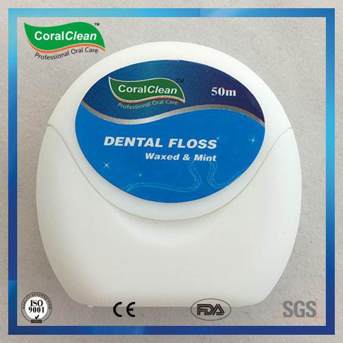 630d Fresh up Waxed Mint Nylon Dental Floss