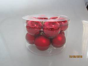 Christmas Glass Apple for Home Decoration