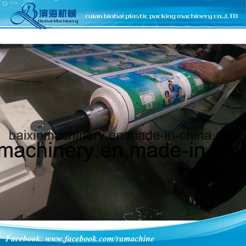 Belt Driving 4 Color Flexo Printing Machine Pneumatic Liting System