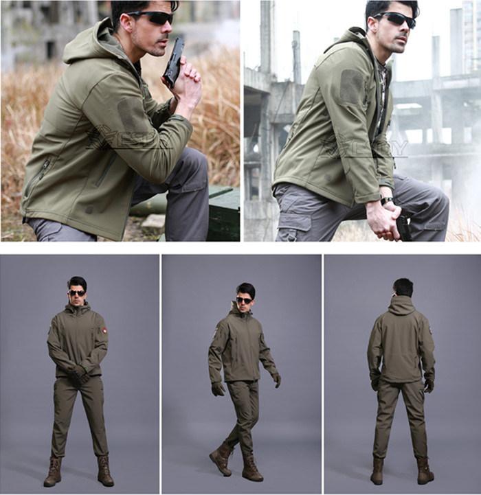 19-Colors Camo Hoodie Army Uniform Hunting Softshell Waterproof Military Jacket