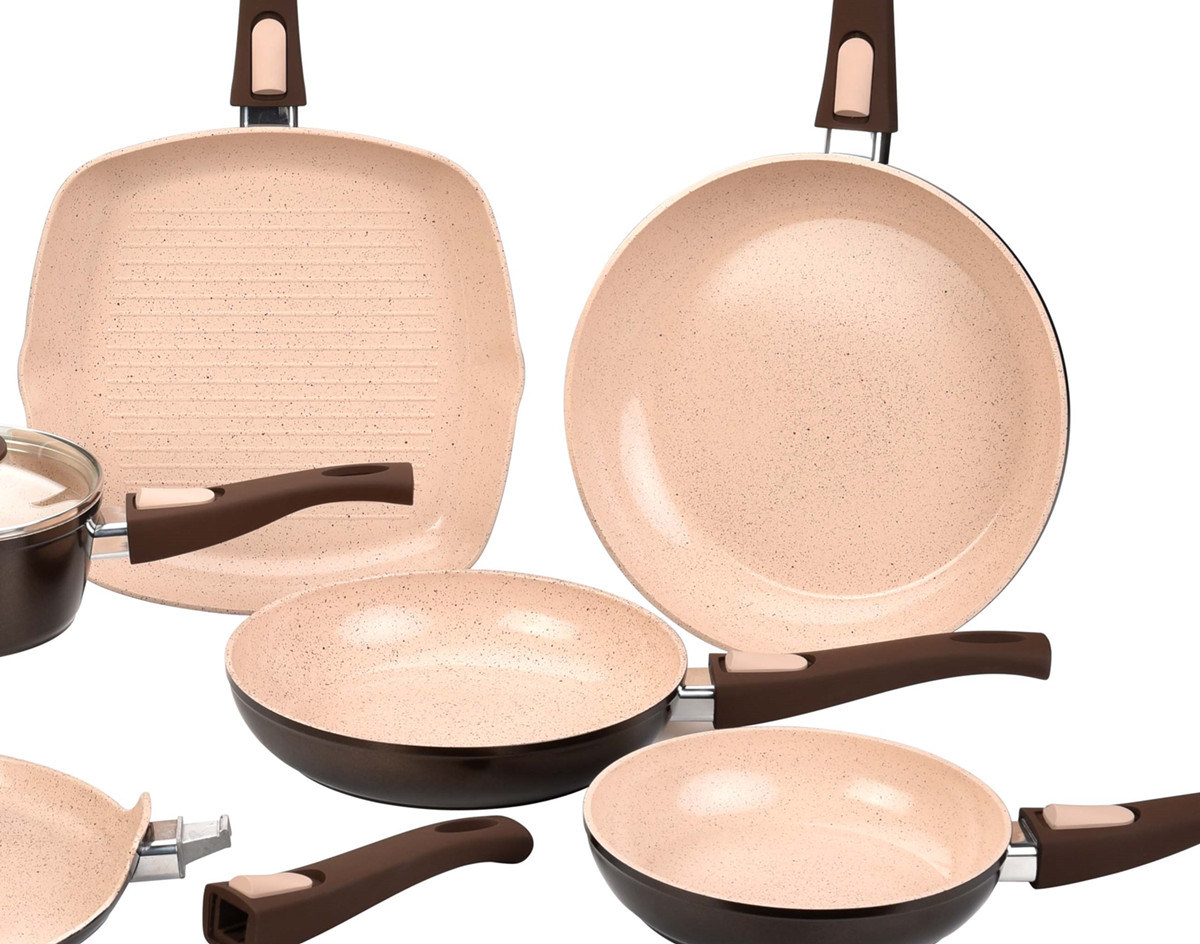 Ceramic Coated Forged Aluminum Pots and Pans Cookware Set