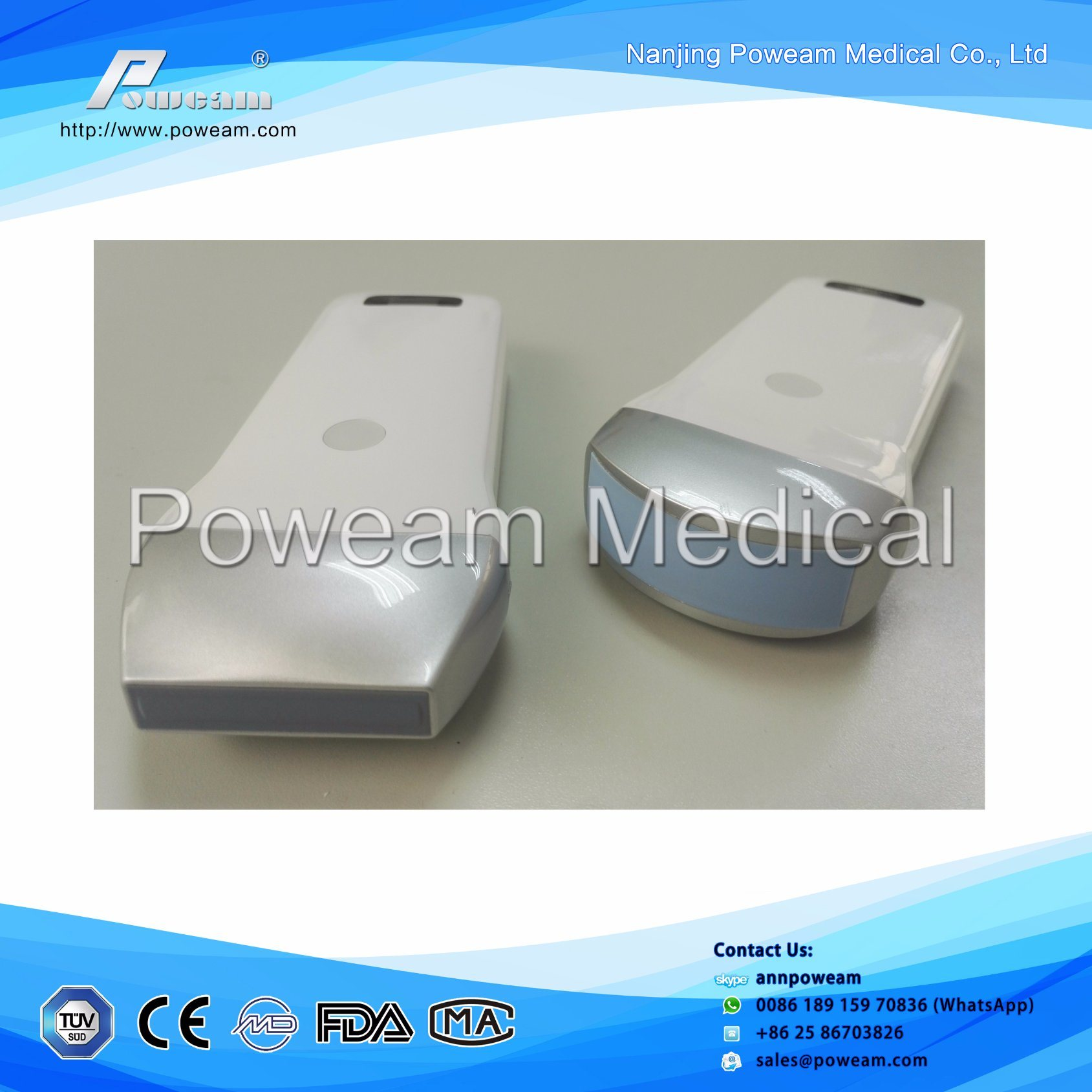 Wireless Ultrasound Probes for iPad iPhone Android Phone