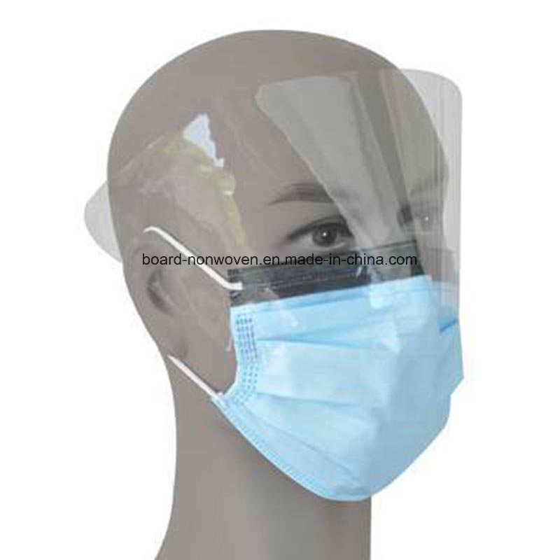 China Manufacture Disposale Non-Woven Face Mask with Anti-Fog Lens Shield