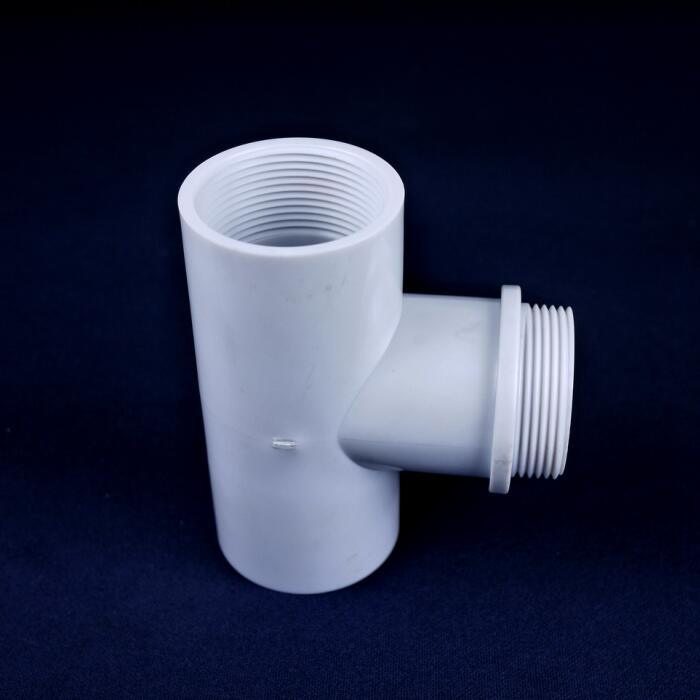 Customized PVC Plastic Molding Pipe Three Way Tee Fitting
