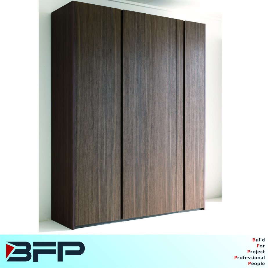 Wood Grain Melamine Laminate Wardrobe Bedroom Furniture Popular