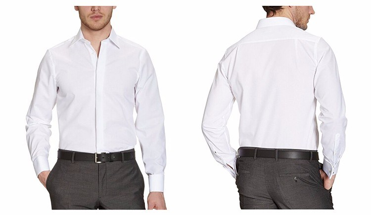 Men′s Classic Fit Long Sleeve Gent Dress Shirt