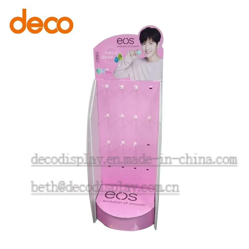 Pop Display Cardboard Paper Display Stand with Hook