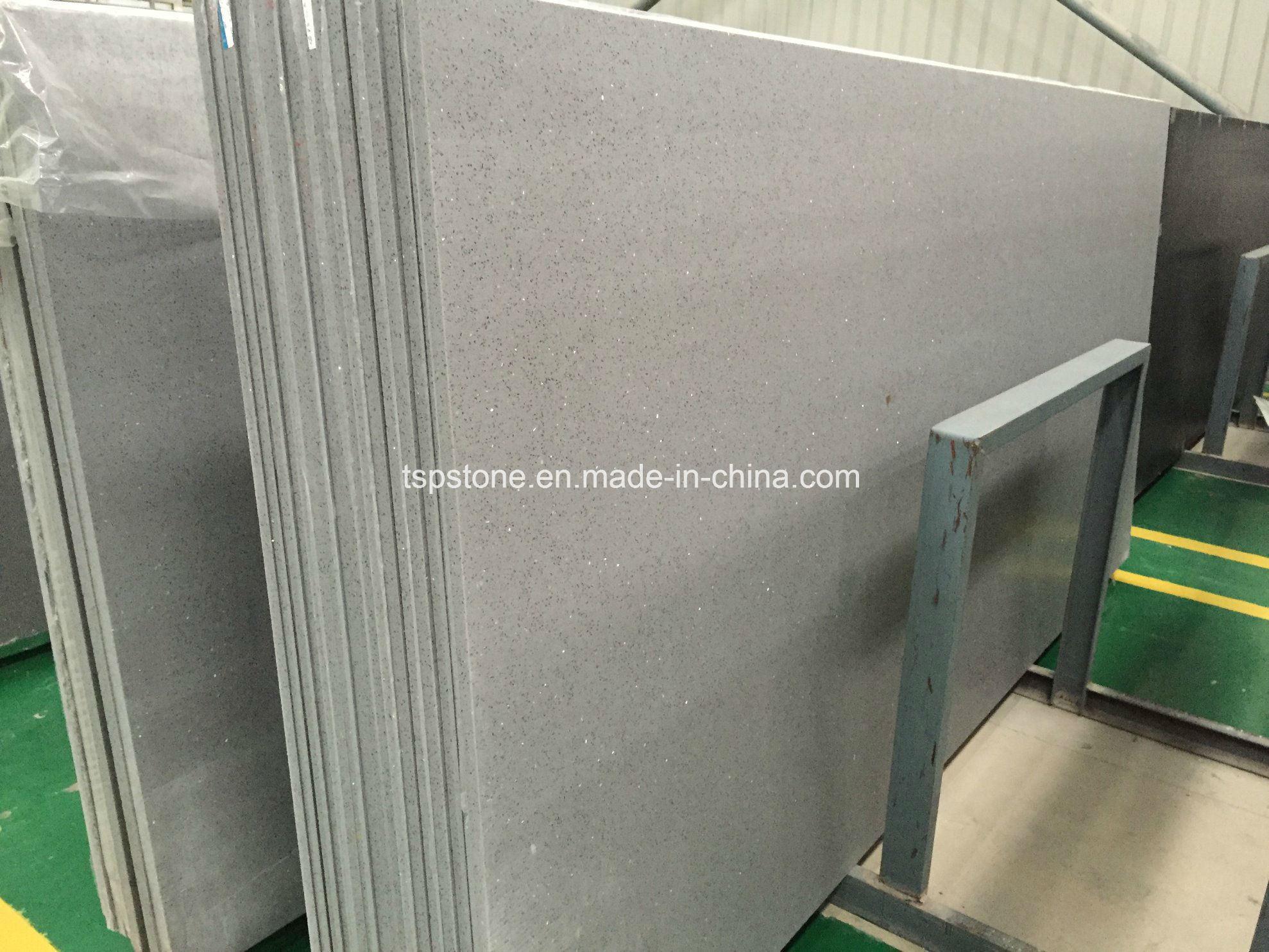Carrara White/Black/ Grey/ Beige Quartz Stone Slab for Kitchen Countertop