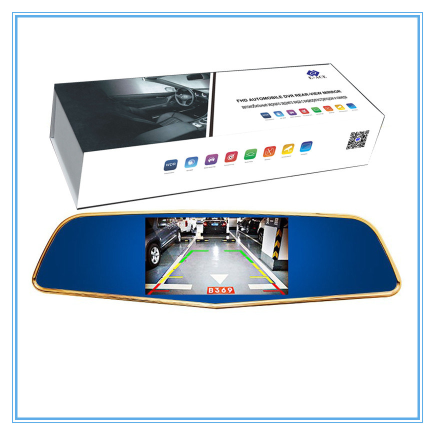 5 Inch FHD 1080P Rearview Mirror with Two Cameras