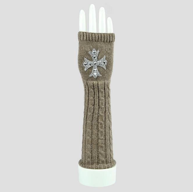 Women′s Knit Fingerless Winter Gloves