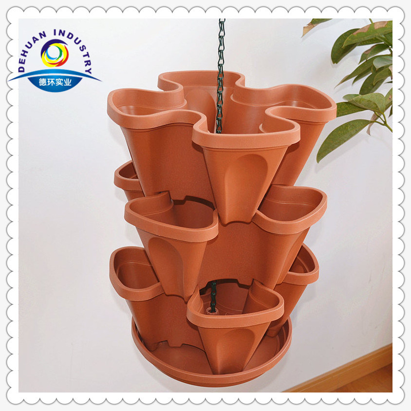 China Hanging Planters Baskets 3 Tier Flower Pots Photos