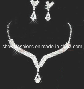 Bridal Jewelry Sets/Shiny Zircon & Crystal Fashion Jewelry Sets/ Necklace and Earrings Sets (XJW12235)