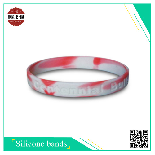 Eco-Friendly Cheap Silicone Wristband with Logo Debossed