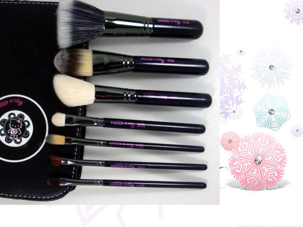 Makeup Brush, Hello Kitty 7PCS Makeup Brush Set