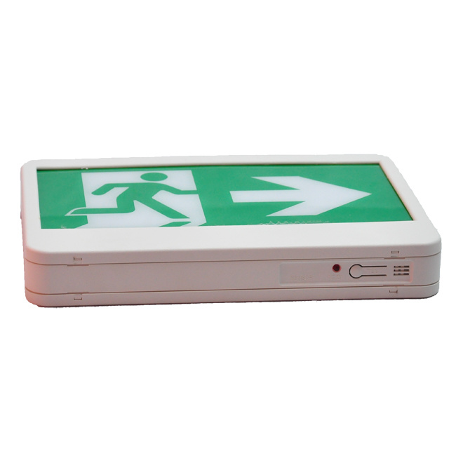 180 Mins Fire Retardant ABS UL LED Exit Sign with Running Man Legend