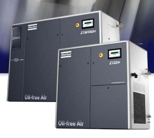 Atlas Copco Oil Free Screw Air Compressor (ZT22VSD ZR37VSD/ZT37VSD ZR55VSD/ZT55VSD)