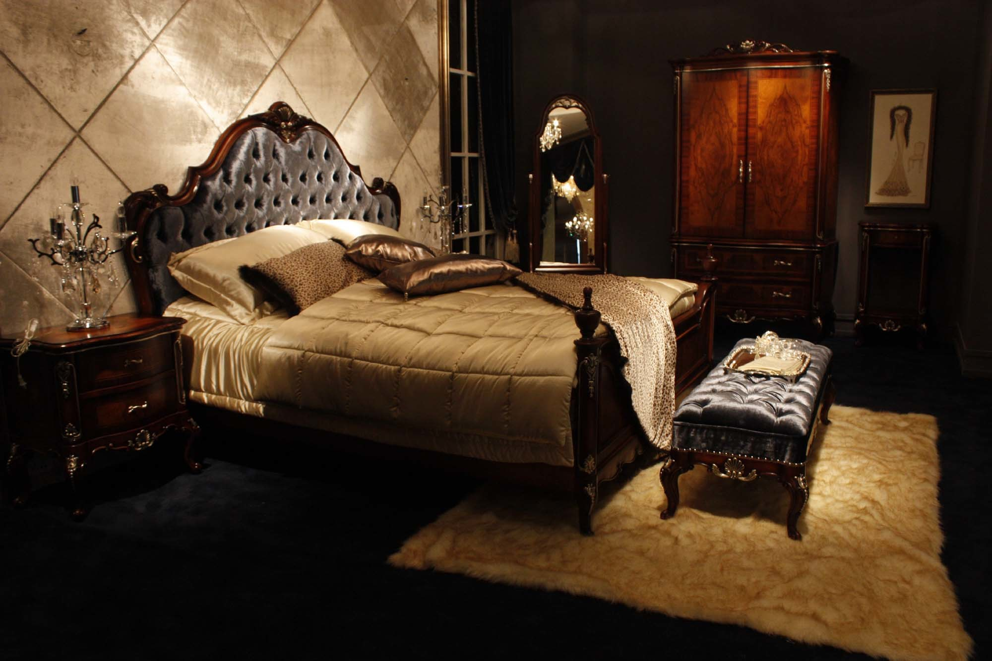 China furniture bedroom furniture china furniture for Black and white vintage bedroom ideas