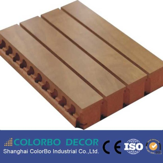 Wooden Timber MDF Soundproof Fireproof Acoustic Panel Board