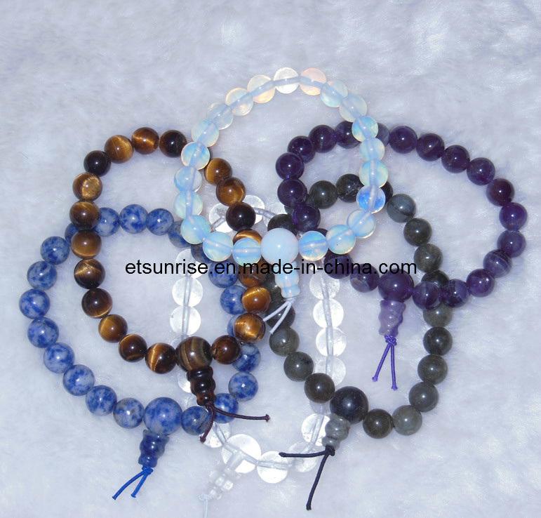 Fashion Crystal Stone Amethyst Tiger Eye Opalite Charming Power Bracelet