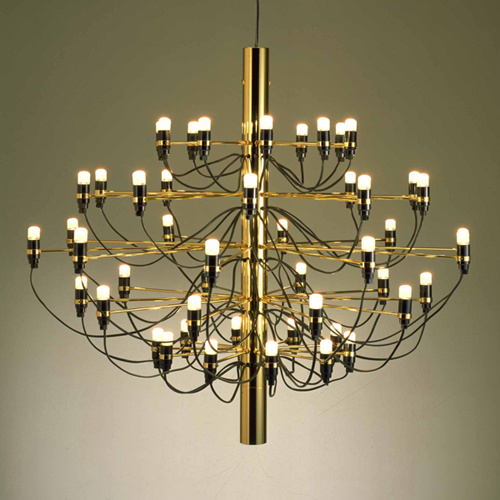 china flos gino sarfatti brass 2097 pendant lamp