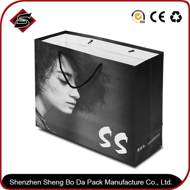 Customzied Logo Printing Paper Gift Shopping Packaging Bag