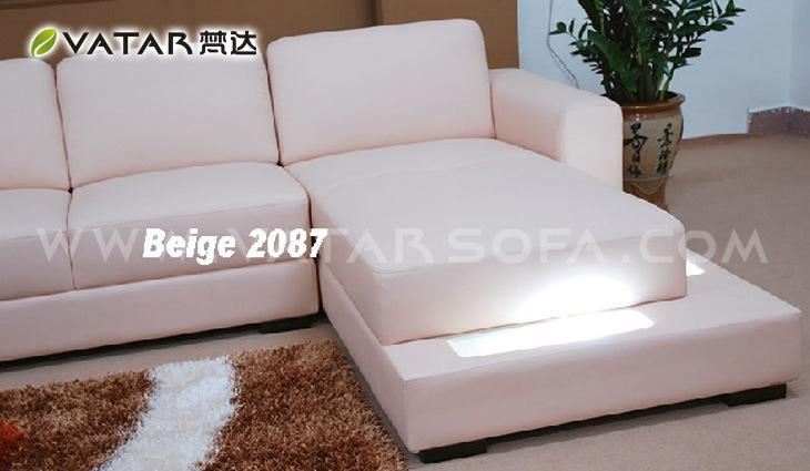 China Corner Sofa Live Leather Color Beige China