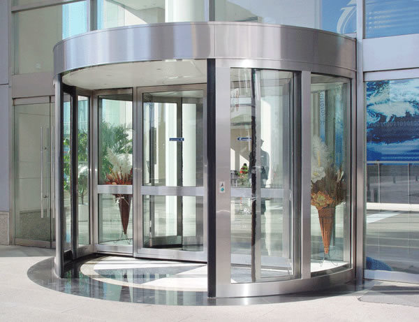 China revolving door stainless steel plate