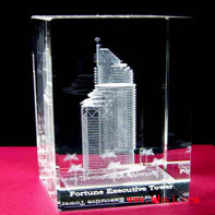 3d laser engraving building crystal gifts