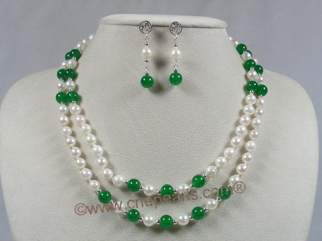 Jade Necklace on Jewelry With Jade Necklace Earrings Set   China Pearl Necklace Jewelry
