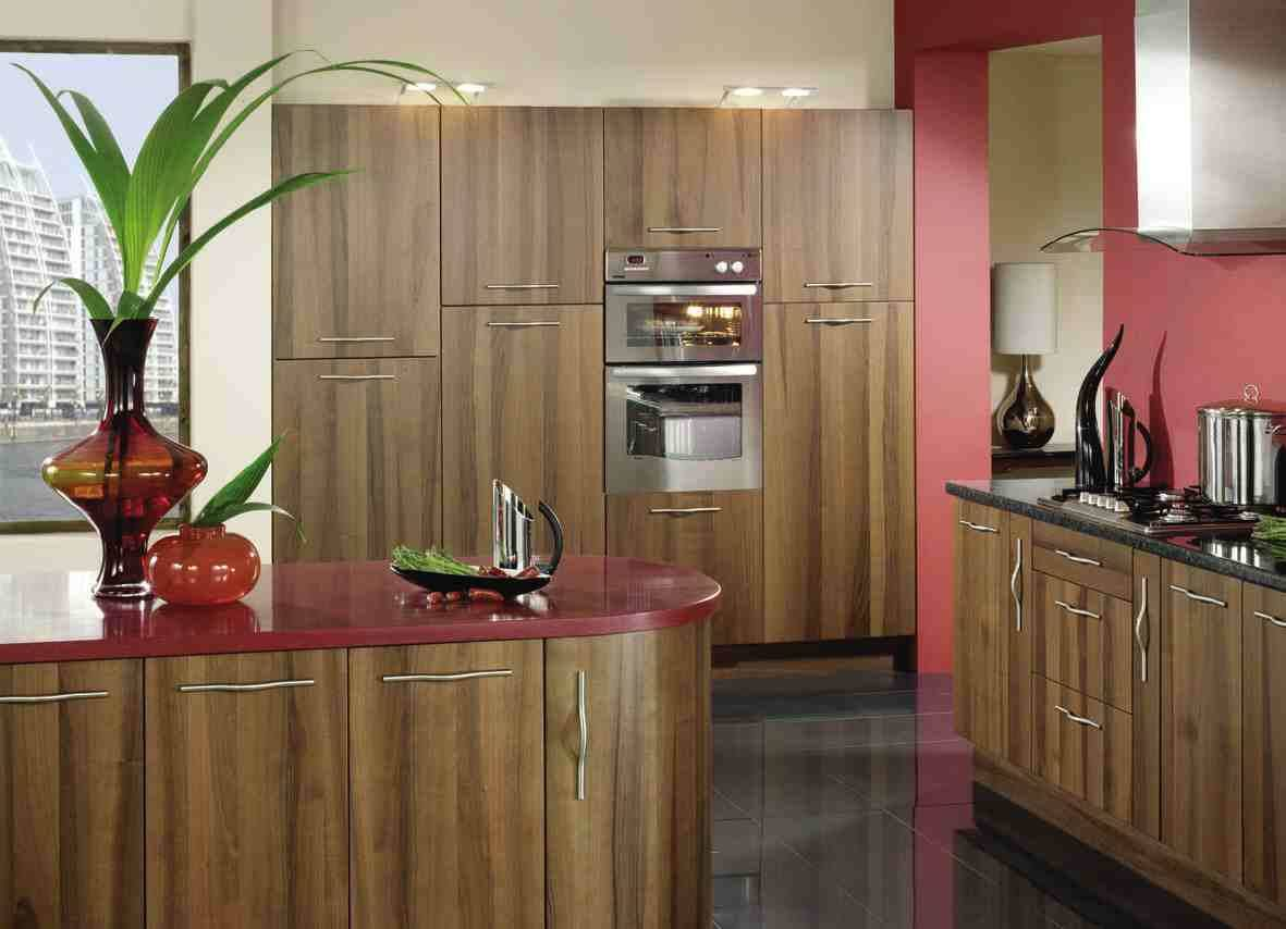 China wood veneer kitchen cabinet clarence china for Veneer for kitchen cabinets