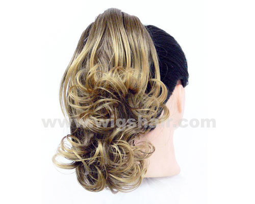 Women Synthetic Long Curly Claw Clip Ponytail Hairpiece Extension (AP-37)