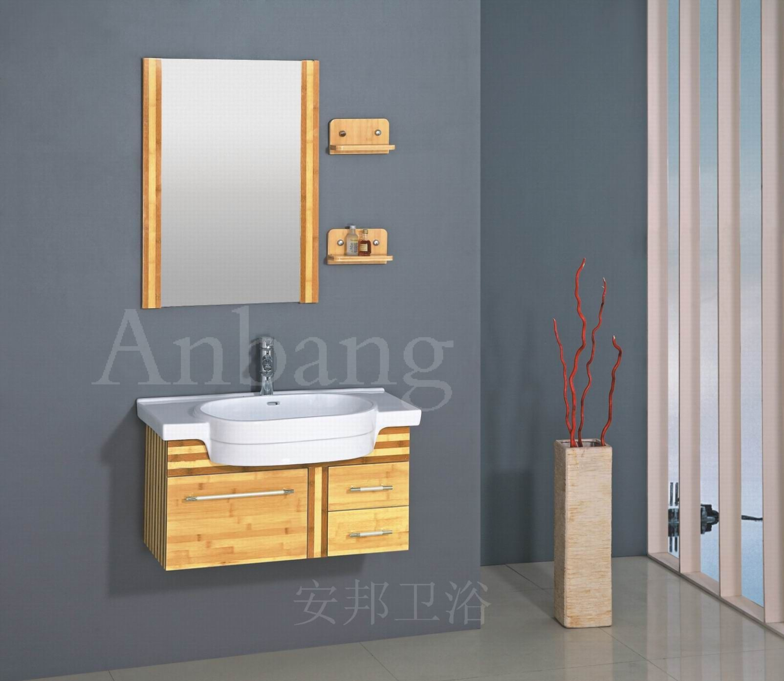 Bamboo Bathroom Cabinet Of Vanity G 009 China Bathroom Cabinet Bathroom Furniture