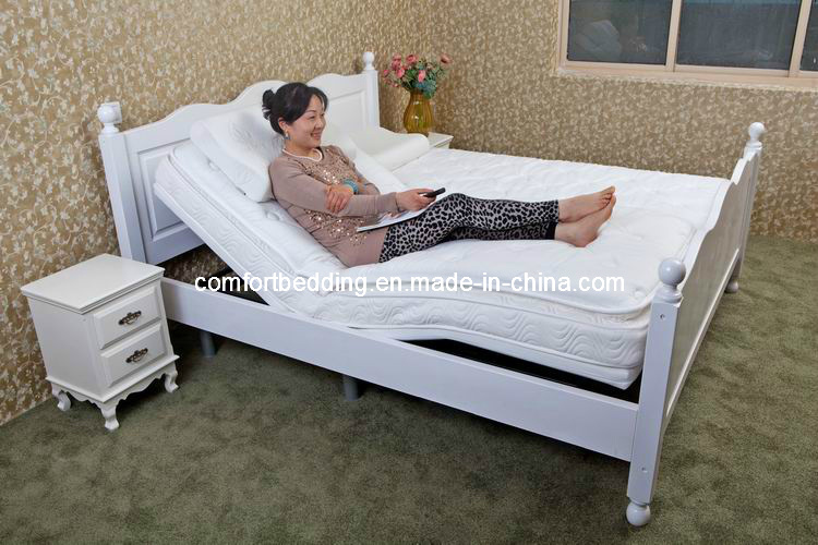 King Size Adjustable Bed with Soft Mattress