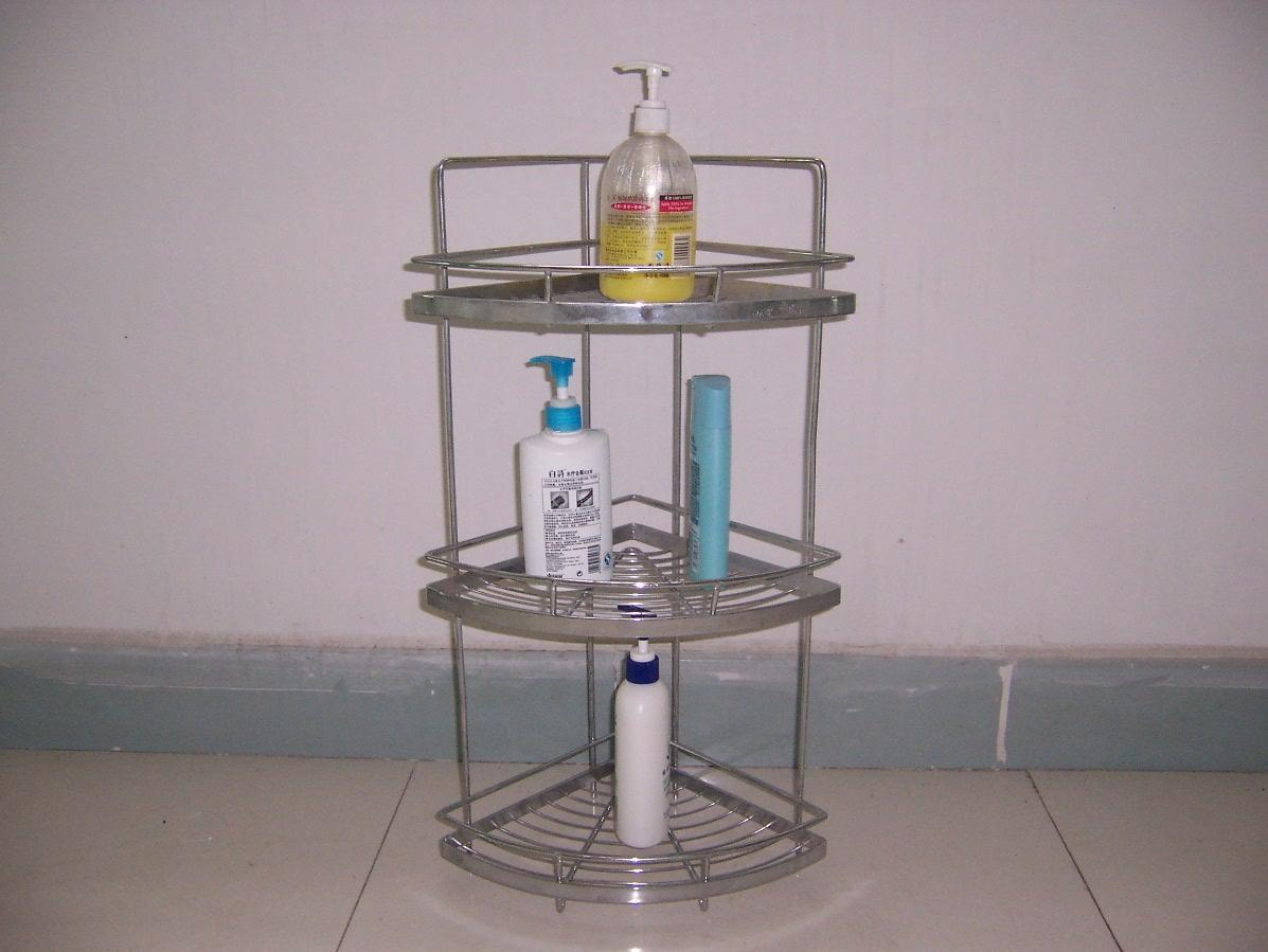Corner bathroom stand