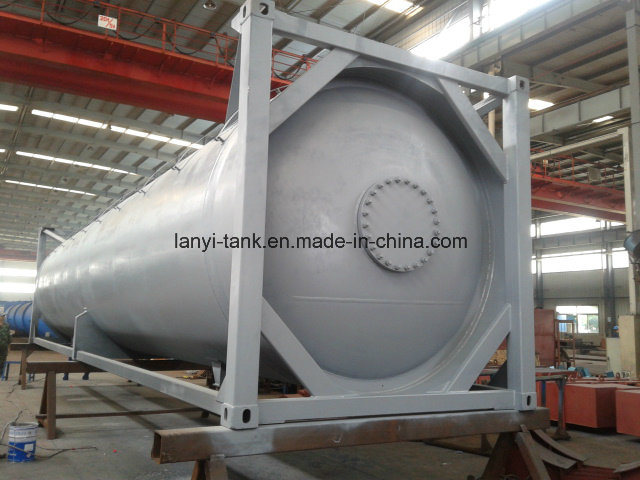 51000L 40FT 22 Bar Pressure Carbon Steel LPG Tank Container Approved by ASME U2