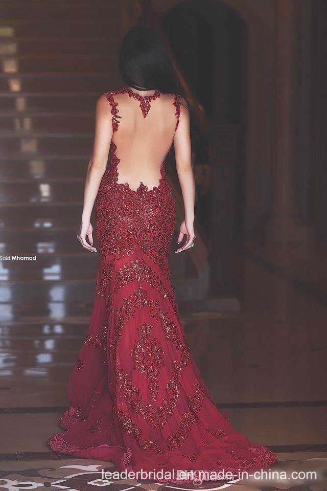 Lace Sequins Evening Dresses Wine Party Gowns Prom Dress PP2017