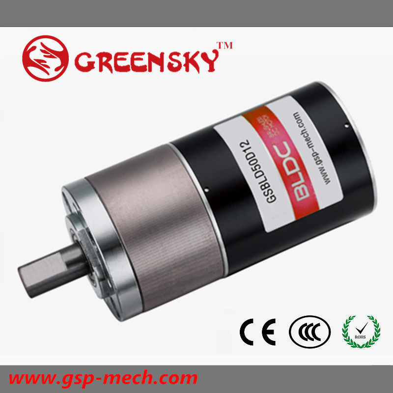 6W~660W, 24V Small Electric DC Brushless Gear Motor