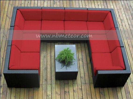 Mtc-114 New Luxury Large Model Outdoor Garden Rattan Furniture Sofa Set