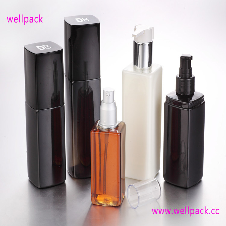 250ml Square Cosmetic Bottle with Sprayer