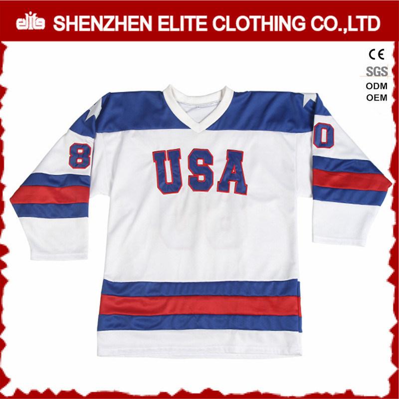 Blackhawks Custom Made Ice Hockey Jersey Tackle Twill