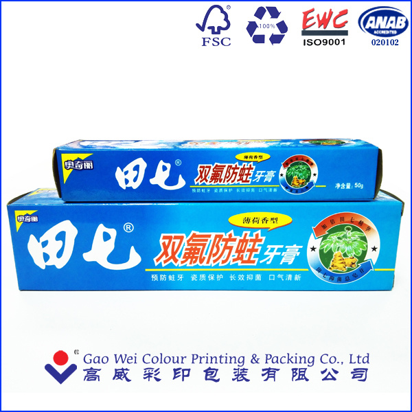 Paper Packaging Box Printing to Be Designed for Toothpaste