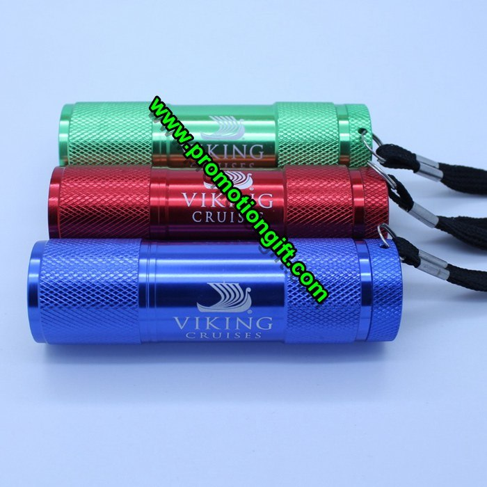 Aluminum 9 LED Flashlight